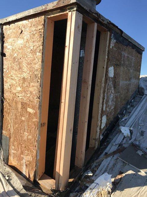 during chimney stucco repair